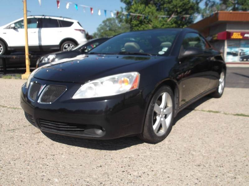 2007 PONTIAC G6 GT 2DR CONVERTIBLE black runs drives and looks great  clean in and out sport