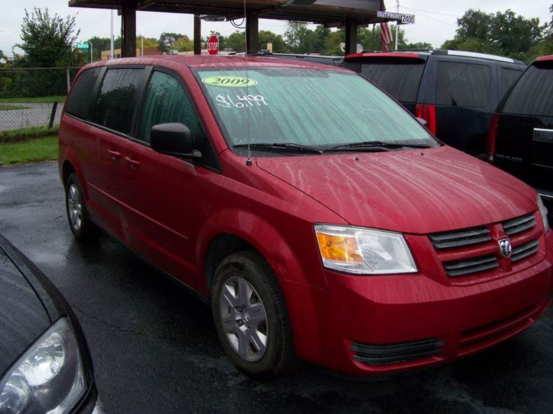 2009 DODGE GRAND CARAVAN SE 4DR MINI VAN red looks clean inside and out third row seating front