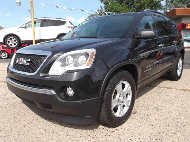 2008 GMC ACADIA SLE-1 AWD 4DR SUV black runs drives and looks great  awd great tires premiu