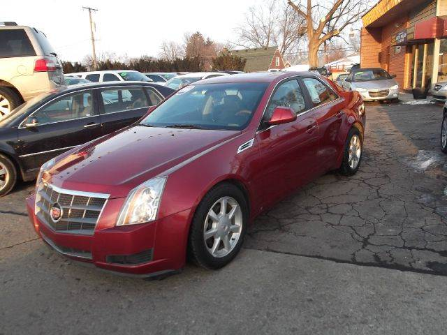 2009 CADILLAC CTS 36L DI AWD 4DR SEDAN W AUTO H red beautiful red runs drives and looks great