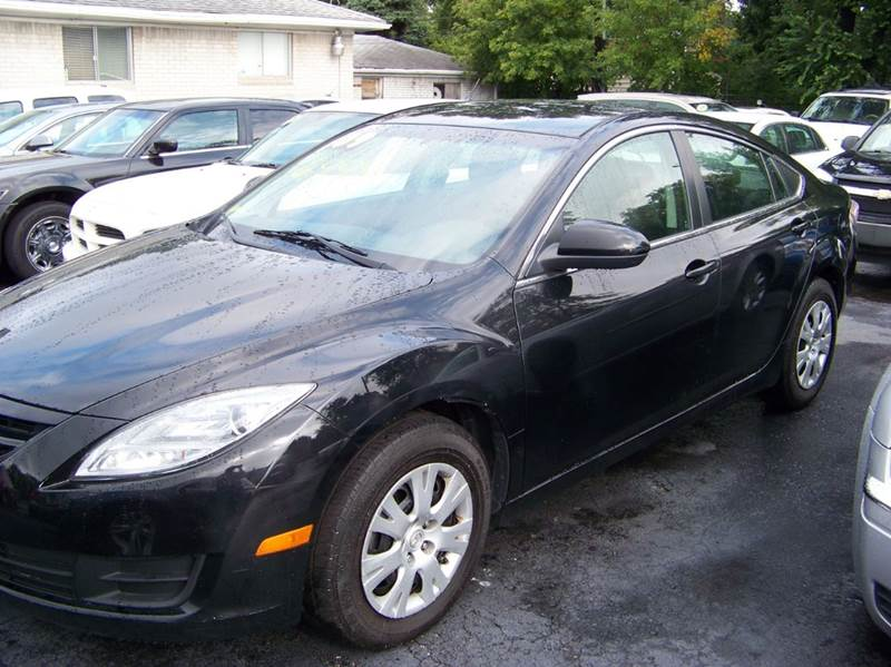 2009 MAZDA MAZDA6 I SPORT 4DR SEDAN 5A black drives great clean inside and outside low miles