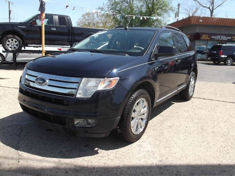 2009 FORD EDGE SEL 4DR SUV blue 2-stage unlocking doors abs - 4-wheel airbag deactivation - occ