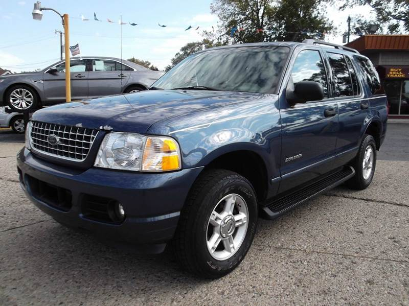 2004 FORD EXPLORER XLT 4DR 4WD SUV blue runs drives and looks good leather premium sound go