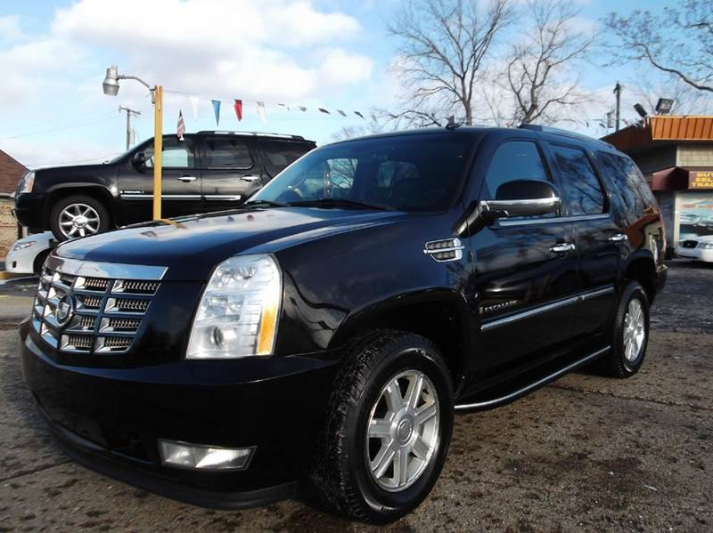 2007 CADILLAC ESCALADE BASE AWD 4DR SUV black lamarina auto sales in dearborn heights is offering