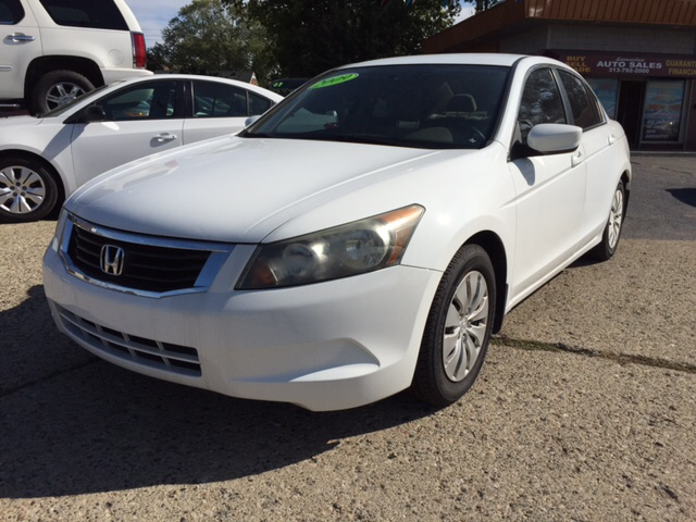 2009 HONDA ACCORD LX 4DR SEDAN 5A white runs drives and looks great clean in and out all p