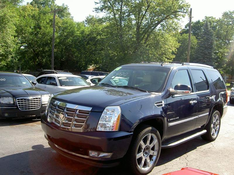 2008 CADILLAC ESCALADE BASE AWD 4DR SUV blue clean in and out  leather interior dvd player th