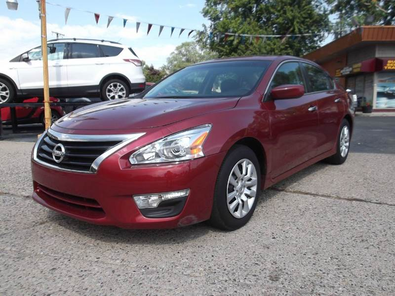 2014 NISSAN ALTIMA 25 S 4DR SEDAN burgundy runs drives and looks great   clean in and out