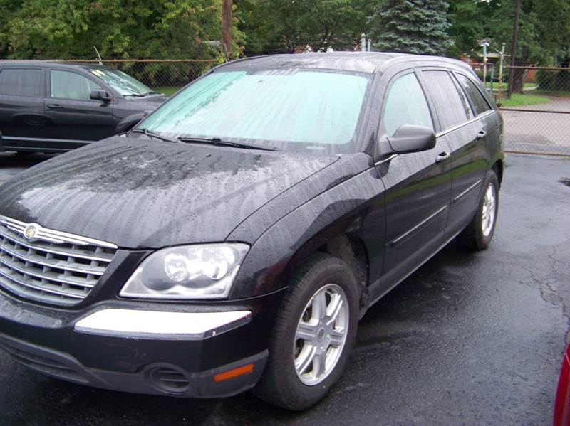 2005 CHRYSLER PACIFICA TOURING 4DR WAGON black runs and drives great  cloth interior third row