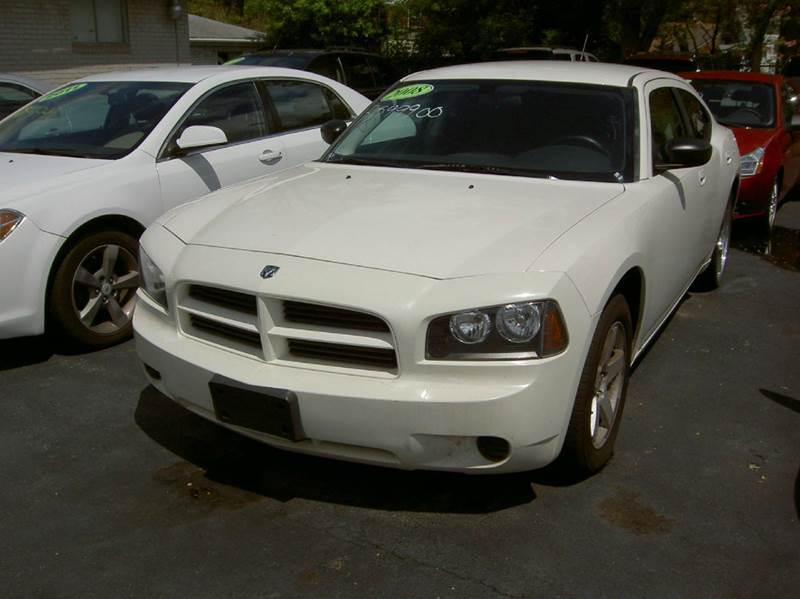 2008 DODGE CHARGER BASE 4DR SEDAN white runs and drives great clean inside out custom wheels