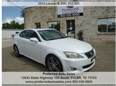 2010 Lexus IS 250 for sale in Tyler, TX