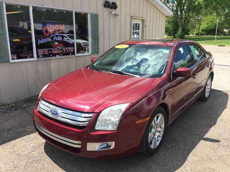 2007 ford fusion v6 sel 4dr sedan in terre haute in adams auto llc. Black Bedroom Furniture Sets. Home Design Ideas