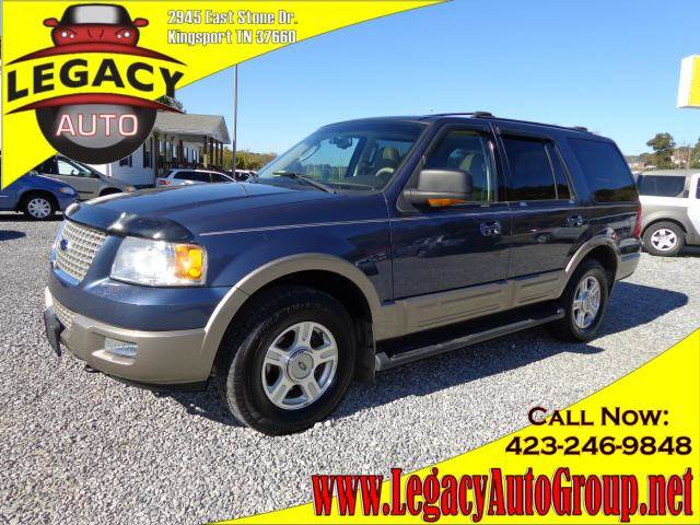 2003 FORD EXPEDITION EDDIE BAUER blue 122275 miles VIN 1FMFU18L03LA71300