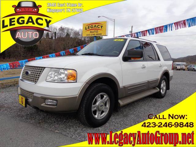 2003 FORD EXPEDITION EDDIE BAUER white 154741 miles VIN 1FMFU18L43LB94484