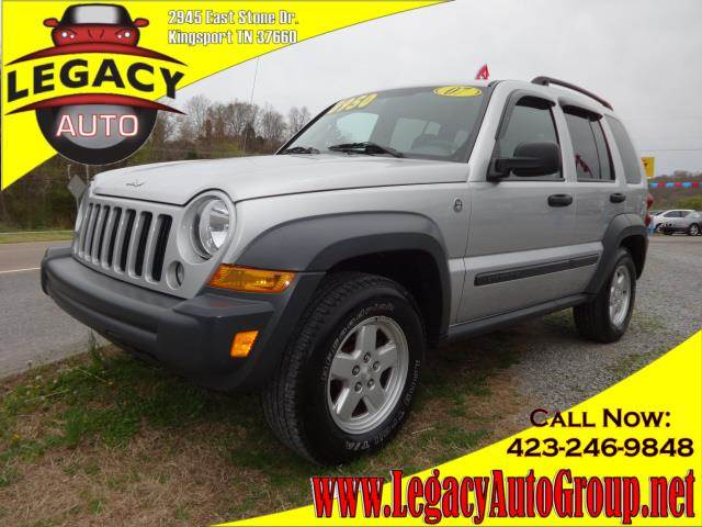 2007 JEEP LIBERTY SPORT silver power steeringpower brakespower door lockspower windowsamfm st