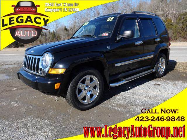 2005 JEEP LIBERTY LIMITED black power drivers seatleather upholsterypower sunroofpower steering