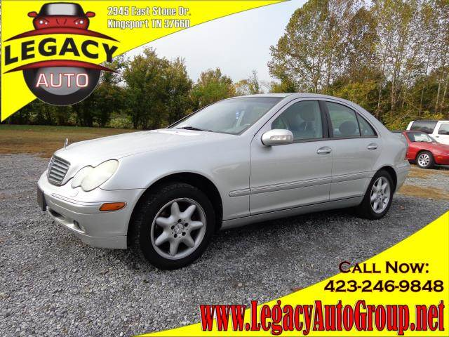 2002 MERCEDES-BENZ C-CLASS silver power drivers seatpower passenger seatseat position memoryhea
