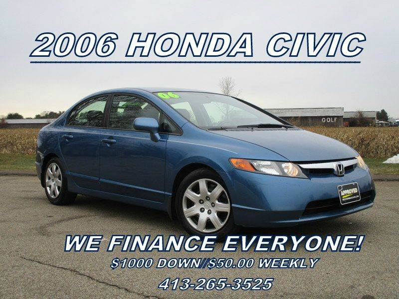 2006 Honda Civic LX 4dr Sedan w/automatic - Springfield MA