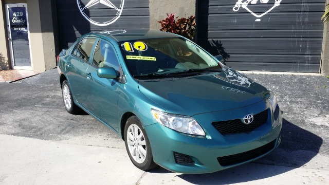 2010 TOYOTA COROLLA LE 4-SPEED AT green abs brakesair conditioningamfm radioanti-brake system