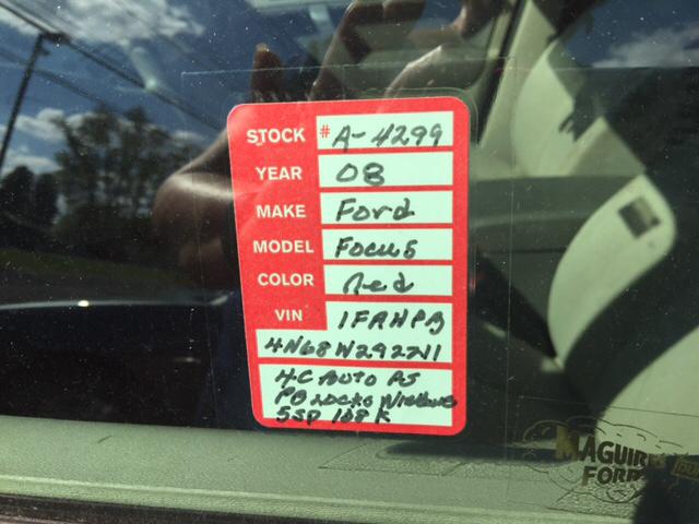 2008 Ford Focus S 4dr Sedan - Montandon PA