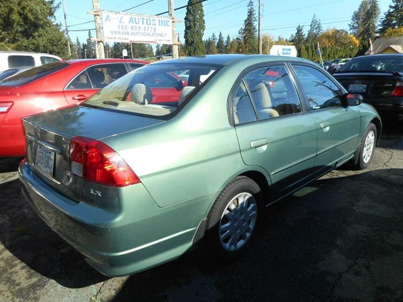 2004 Honda Civic LX 4dr Sedan In Vancouver WA - A and L Autos Inc
