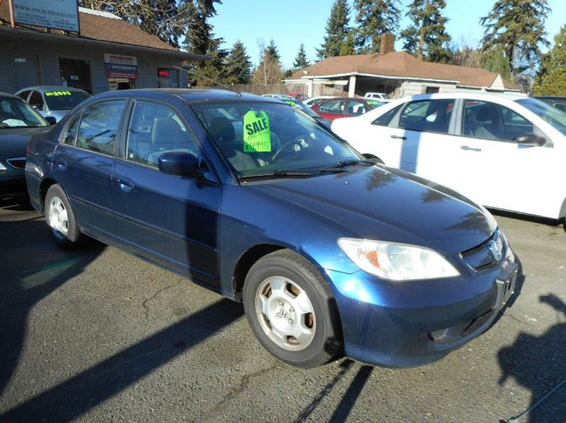 Honda Dealer Vancouver Wa 2005 Honda Civic Hybrid 4dr Sedan In Vancouver WA - A and ...