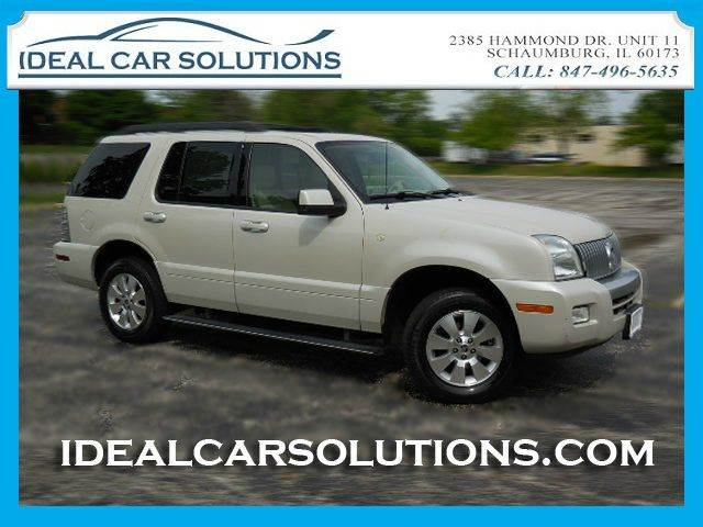 2006 MERCURY MOUNTAINEER LUXURY 40L AWD white navigation 3rd row seating dvd entertainment syst