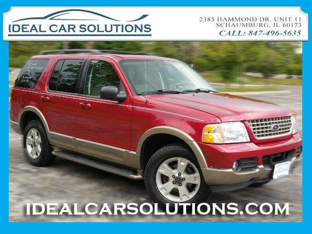2003 FORD EXPLORER EDDIE BAUER 40L 4WD red only 1 owner  clean history report  ice cold ac