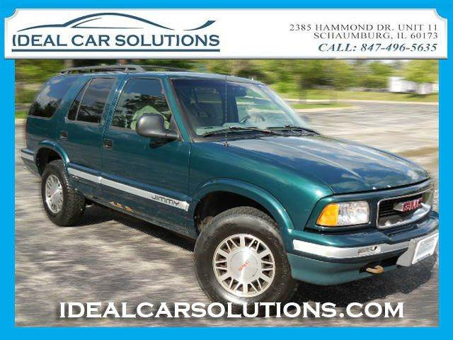 1996 GMC JIMMY SLE green 4x4 runs and drives good newer car trade in priced for a quick sale