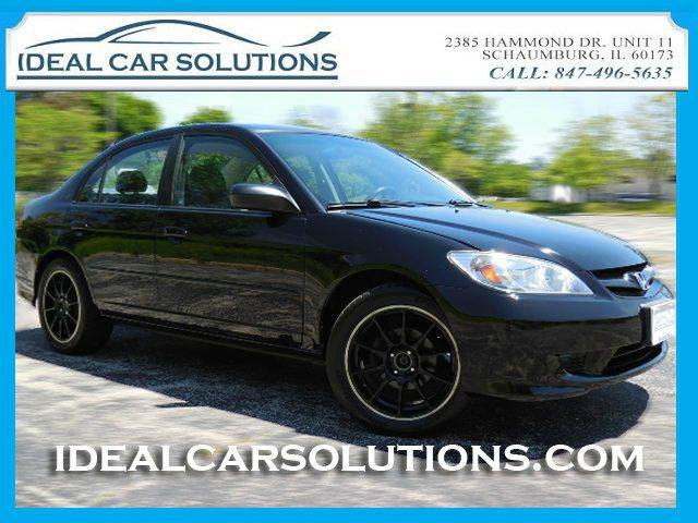 2004 HONDA CIVIC LX 4DR SEDAN black cold ac extra clean inside and out this car looks runs