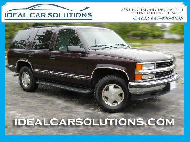 1996 CHEVROLET TAHOE LS 4DR 4WD SUV burgundy 1-owner 4x4 clean is the way to describe this truck