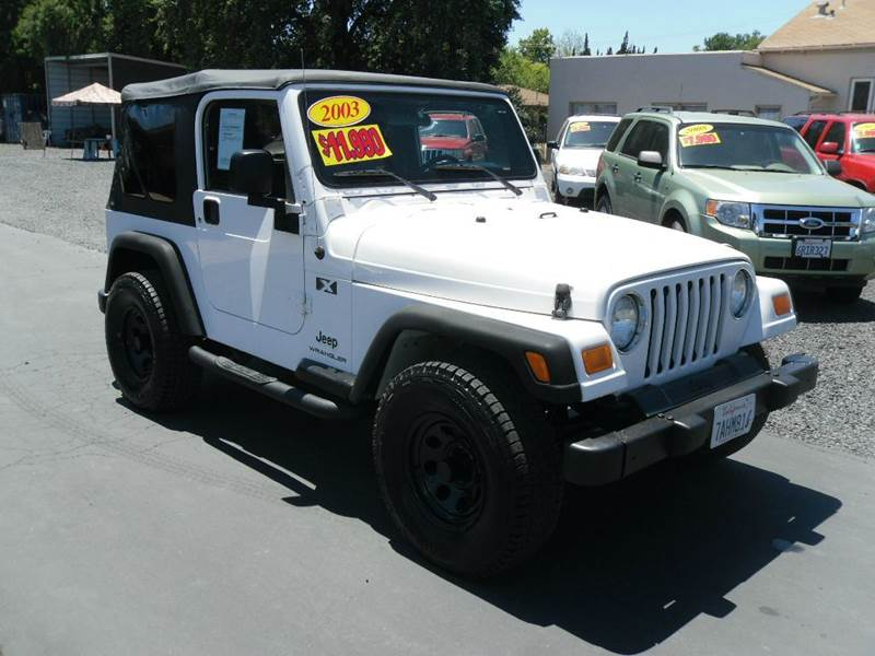 2003 jeep wrangler x freedom edition 4wd 2dr suv in gridley ca manzanita car sales. Black Bedroom Furniture Sets. Home Design Ideas