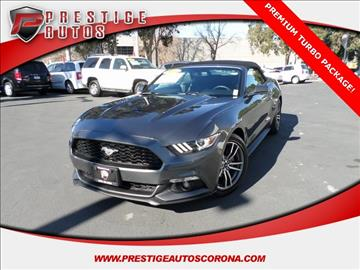 2016 Ford Mustang for sale in Corona, CA