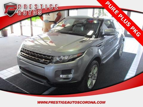 Land Rover Range Rover Evoque Coupe For Sale Carsforsale Com