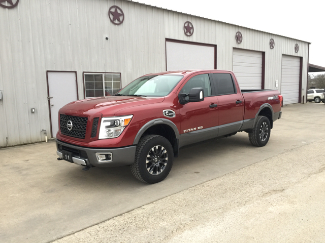 2016 nissan titan xd pro 4x 4x4 4dr crew cab pickup diesel in gonzales tx circle t motors inc. Black Bedroom Furniture Sets. Home Design Ideas