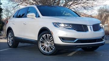 2016 Lincoln MKX for sale in Reno, NV