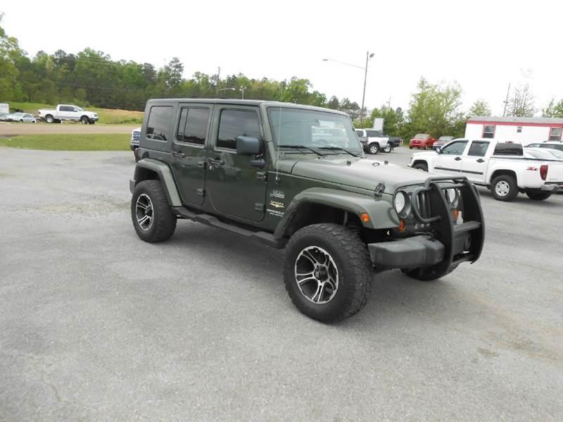 2007 jeep wrangler unlimited 4x4 sahara 4dr suv in jasper al jasper auto sales. Black Bedroom Furniture Sets. Home Design Ideas