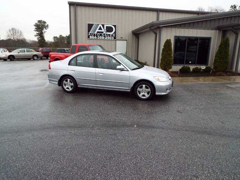 2005 Honda Civic EX 4dr Sedan w/Front Side Airbags - Anderson SC