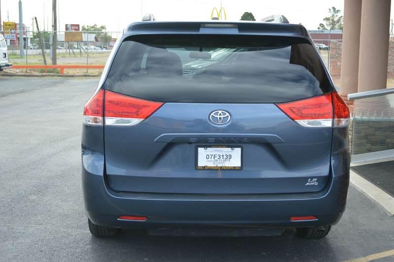 2013 toyota sienna le 7 passenger awd 4dr mini van in el for Torresdey motors el paso texas