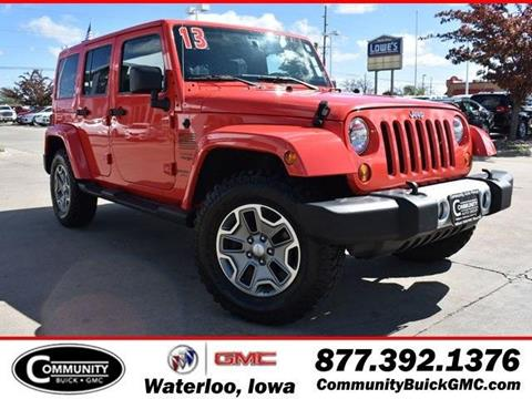 2013 Jeep Wrangler Unlimited for sale in Waterloo, IA