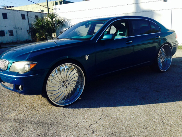 2006 BMW 7-SERIES 750LI blue custom 28 forgiato rims custom swade n leather blue interior 6000 w
