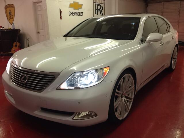 2008 LEXUS LS 460 BASE 4DR SEDAN white white loaded easy financing clean car fax clean titl