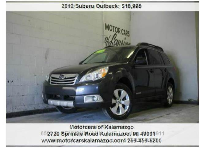 2012 SUBARU OUTBACK 25I LIMITED AWD 4DR WAGON CVT graphite gray metallic awd and leather call a