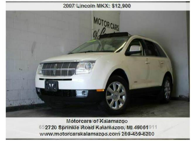 2007 LINCOLN MKX BASE AWD 4DR SUV white chocolate tri-coat duratec 35l v6 awd and beige leathe