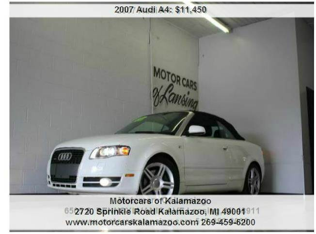 2007 AUDI A4 20T QUATTRO AWD 2DR CONVERTIBLE white 6-speed automatic with tiptronic quattro an