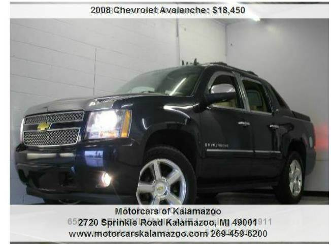 2008 CHEVROLET AVALANCHE LTZ 4X4 4DR CREW CAB SB blue 4-speed automatic with overdrive and 4wd c