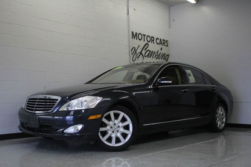2007 MERCEDES-BENZ S-CLASS S550 4DR SEDAN gray s550 55l v8 dohc 32v rwd and brown a workmans