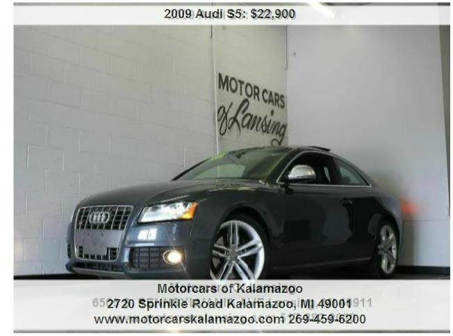 2009 AUDI S5 QUATTRO AWD 2DR COUPE 6A grey 42l v8 fsi direct injection quattro and leather li