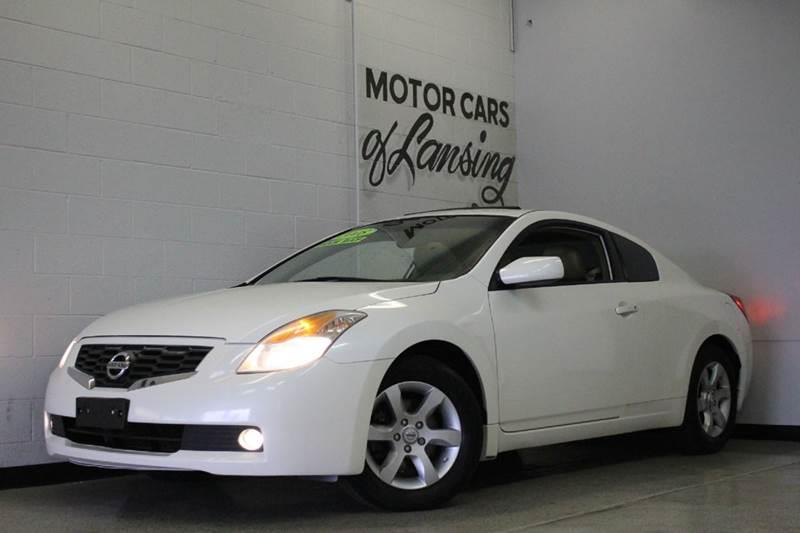 2008 NISSAN ALTIMA 25 S 2DR COUPE CVT white 25l i4 leather clean low miles  2-stage unlocki