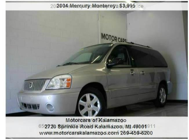 2004 MERCURY MONTEREY CONVENIENCE 4DR MINI VAN silver birch clearcoat metalli 42l v6 sfi ohv and