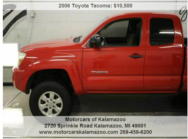 2006 TOYOTA TACOMA PRERUNNER V6 4DR ACCESS CAB SB  red abs - 4-wheel airbag deactivation - occup